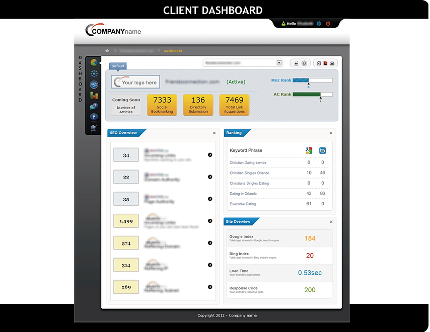 VSS Client Dashboard